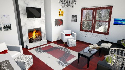 Red in Winter - Modern - Living room - by ROAR