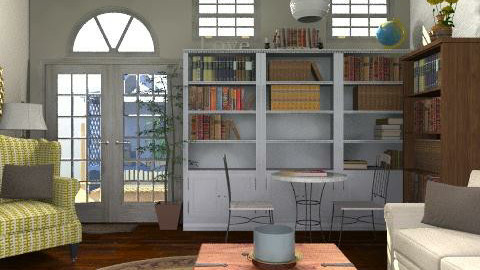 Library - Rustic - Office - by laruue