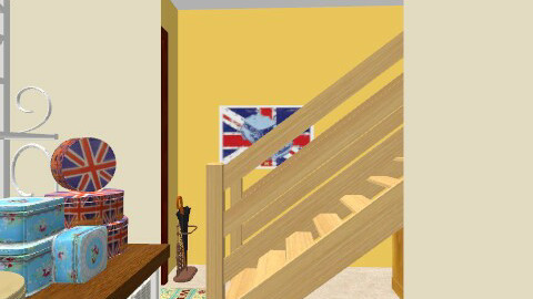 Basement kitchen and entrance/stairway - Vintage - Kitchen - by PrincessDecember