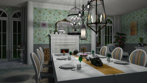 shabby dining - by donella