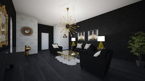 Freestyle black gold  - Living room - by Christine Ward_877