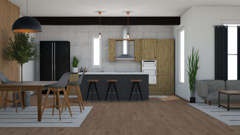wood and tile - Kitchen - by Too