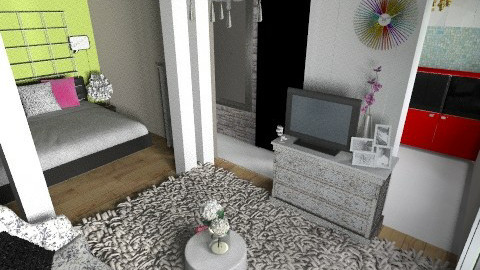 small flat  - Living room - by pyksio