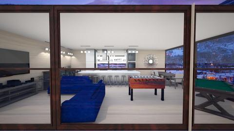 Aspen Chalet - Rustic - Living room - by kellynazha