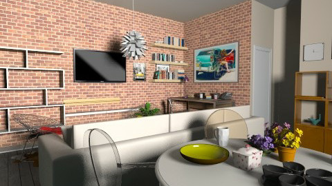 living room - Retro - Living room - by NiMii