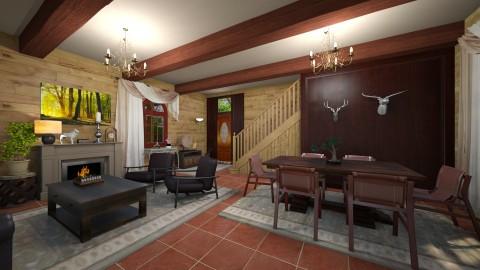 lodge - Rustic - Living room - by bibi_pat