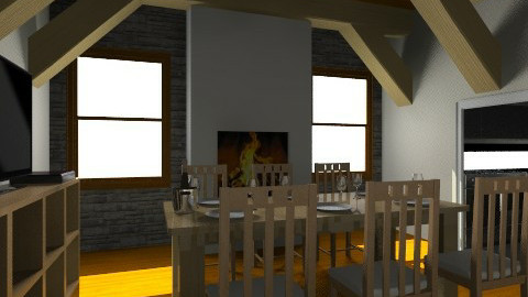 Rustic Living_Kitchen - Rustic - by Facundo Hernandez