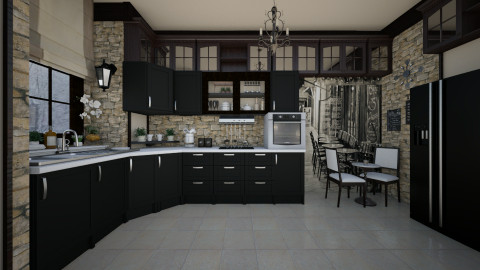 When Past meets Present - Kitchen - by Violetta V