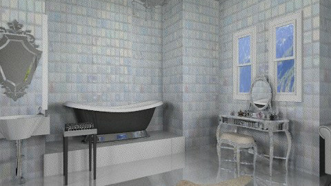 tiled bathroom - by rosiedoll