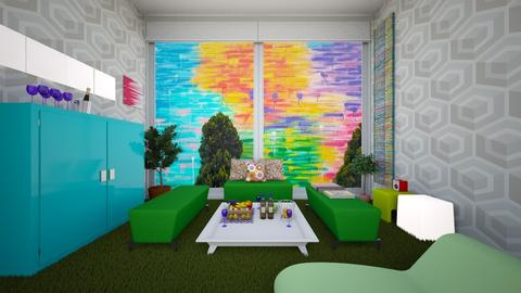 Modern Triclinium aka Playroom for Parents - Office - by LARV