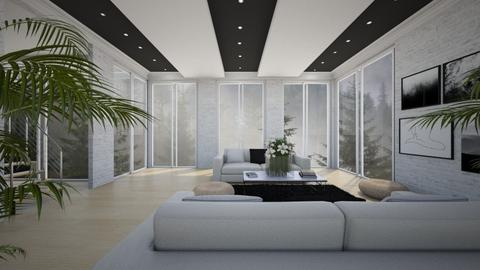 black ceiling  - Modern - Living room - by patriicia popa