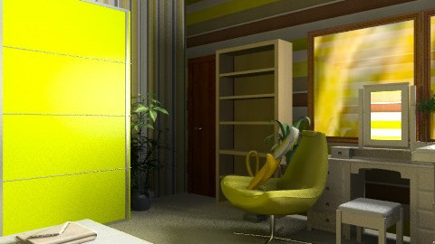 Green room - Modern - Bedroom - by KtDundee