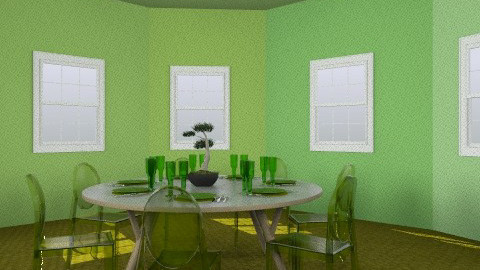 That's what we call a green room!! - Global - Dining room - by dimitrafounda
