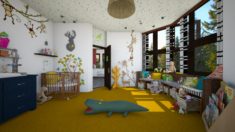 Monkeys - Eclectic - Kids room - by evahassing