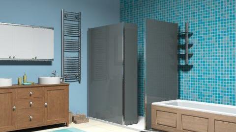 The Blue Bathroom - Glamour - Bathroom - by DesignerLady