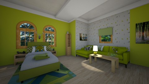 Lovin the green - Classic - Bedroom - by KatieBowes