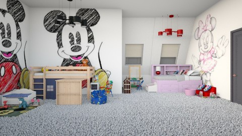 Mickey Mouse at night  - Modern - Bedroom - by InteriorDesigner111