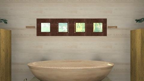 Wooden Bath - Rustic - Bathroom - by architect_09