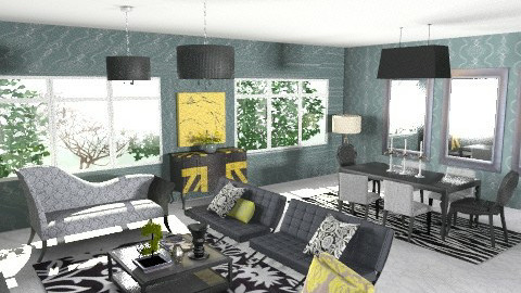 Condo Living - Glamour - Living room - by chloedaniella