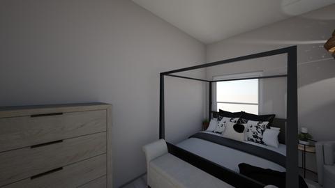 Bedroom with black - Bedroom - by alexisbarnes