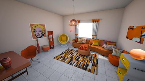 Creamsicle Life - Retro - Living room - by KajsaRain
