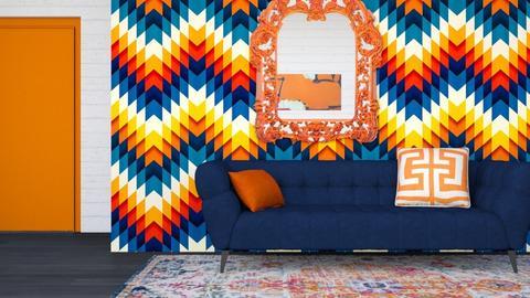 Blue and Orange - Modern - by Vampire_Kitty