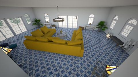 Birds Eye View 1 - Living room - by Orange Blossom Interiors