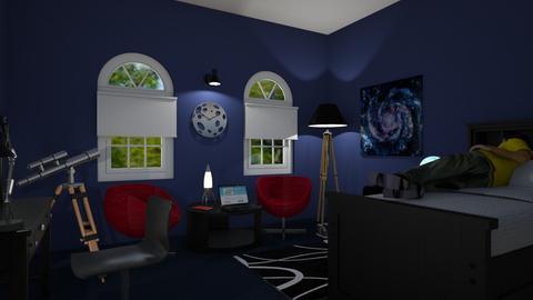 Clock Room - Bedroom - by Mary__