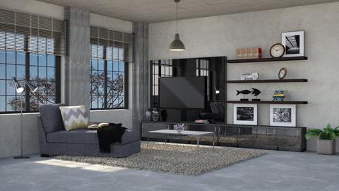 Sala de tv Industrial - by Alecio
