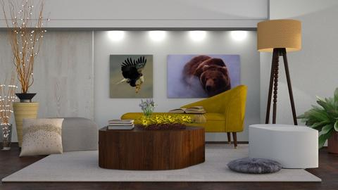 Yellow Chaise - Rustic - Living room - by millerfam