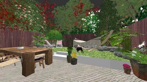 london new house  - Garden - by zozan