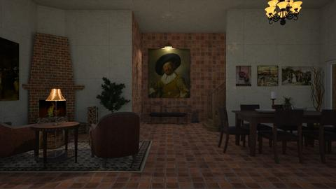 old english mansion room - Country - Living room - by jammuek