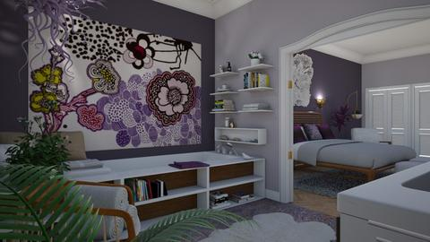 Modern Boho IV - Eclectic - Bathroom - by Theadora