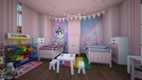 Twins Bedroom - Kids room - by abbywabby1