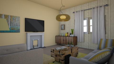 Kasey Yellow Livingroom - Modern - Living room - by seahorsesteph