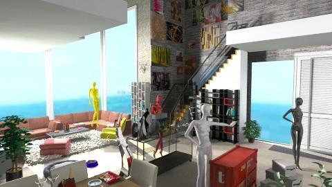 Seaside House - Vintage - Living room - by Teddyyy