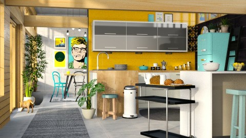 colorgasm - Kitchen - by sativah
