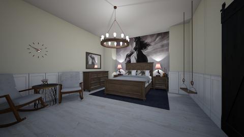 horse bedroom - Bedroom - by Addie Grace