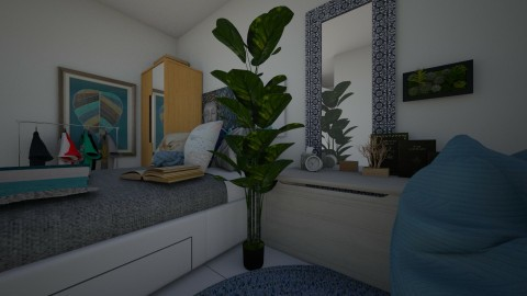 room in a nook - by a tall cactus