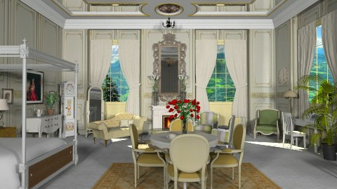 A Royal Bedroom - Classic - Bedroom - by yourjieee