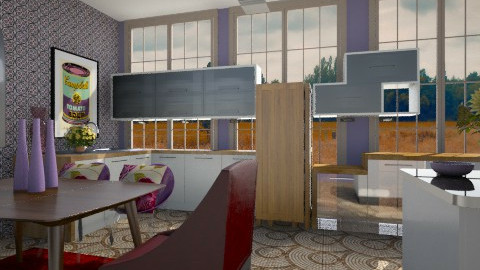 Purple kitchen - by Emma RB