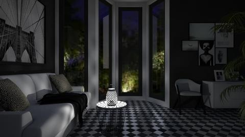 BW Checkered - Classic - Living room - by millerfam