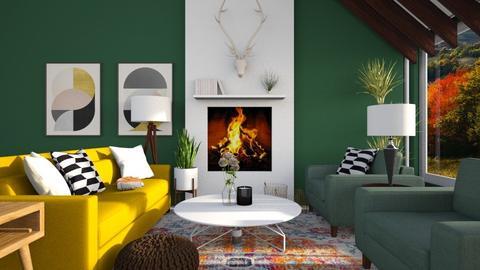 Mid Century Modern Living - Living room - by GinnyGranger394