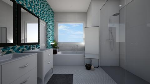 mid century modern bathroom - Bathroom - by stephanie delios