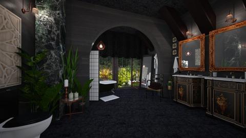 dark bath - Glamour - Bathroom - by donella