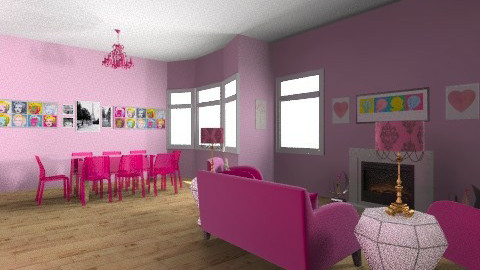 pink - Glamour - Living room - by emily55