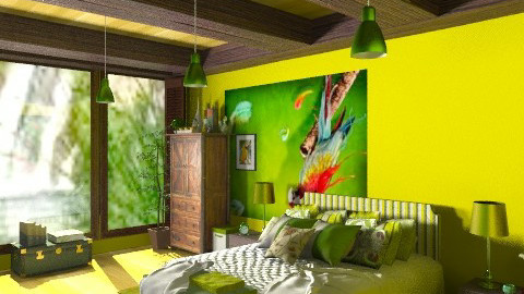 parrot - Eclectic - Bedroom - by ATELOIV87