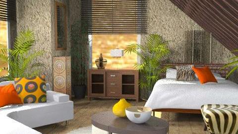 Hidden Desert - Rustic - Bedroom - by channing4
