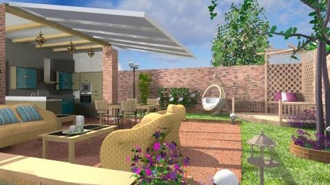 Enclosed Garden - Modern - Garden - by Bibiche