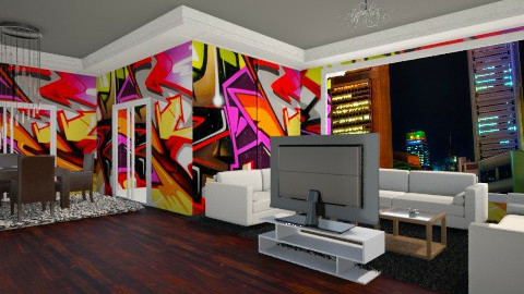 Singapore Graffiti - Modern - Living room - by Amateur architect